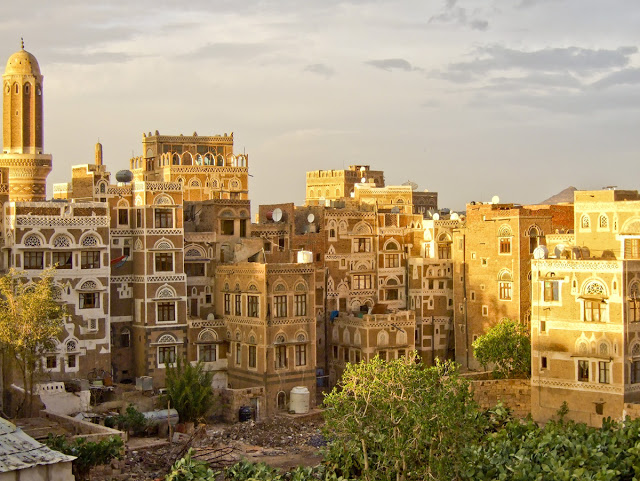 Part of a town in Yemen. (curiositas.com)