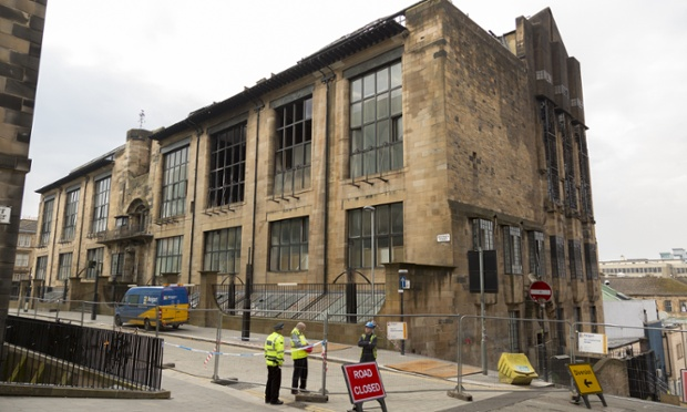 The Glasgow School of Art after last year's fire. (Paul Stewart/Demotix)