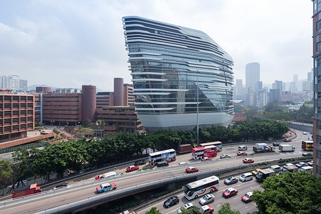Zaha Hadid's Innovation Tower in Kowloon. (Architectural Review)