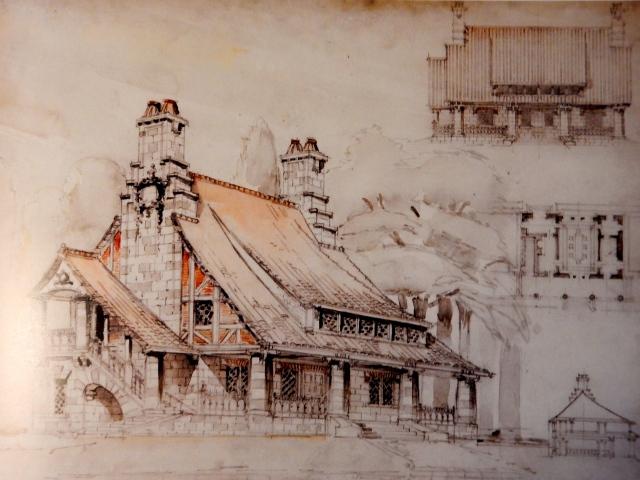 A guard house, 1907. (Rizzoli)