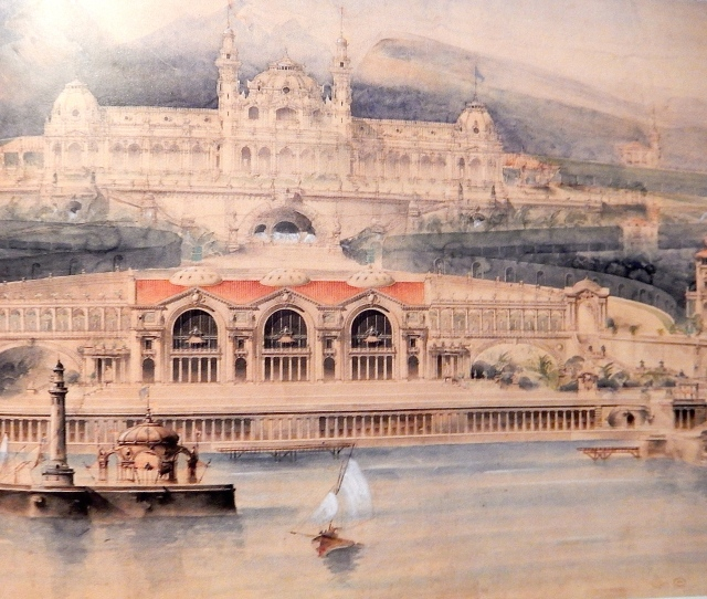 Portion of the elevation of a seaside casino, 1889. (Rizzoli)