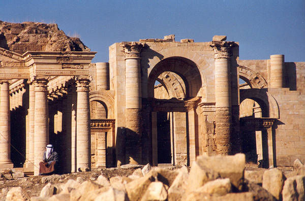 Ancient city of Hatra, in Iraq. (This and photos below courtesy of Wikipedia.)