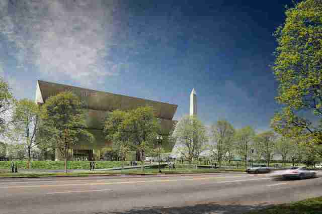 Rendering of National Museum of African American History and Culture, in Washington. (npr.org)