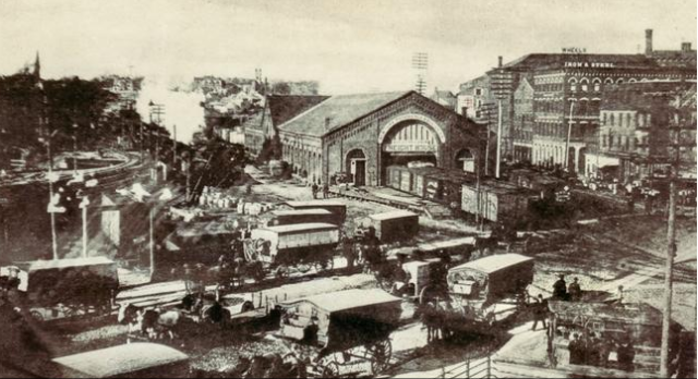 Archival photo of Tefft's North Freight Station. (providencejournal.com)