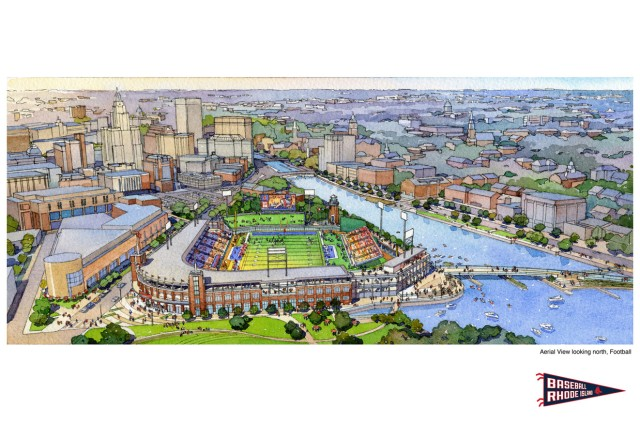 Rendering of stadium viewed from south. (Courtesy of DAIQ)