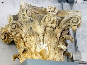 A Corinthian capital graces a classroom at the ACBA.
