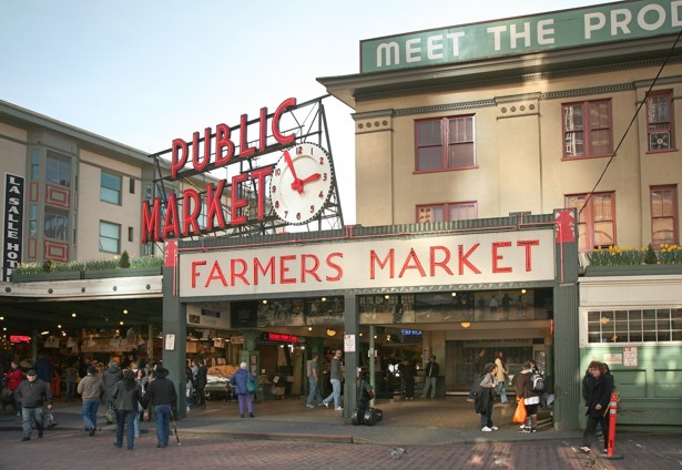 Public market in Seattle. (theatlantic.com)