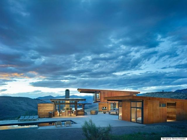 Winner for custom housing: Studhouse, in Winthrop, Wash. Would it have won without the amazing backdrop? (AIA)