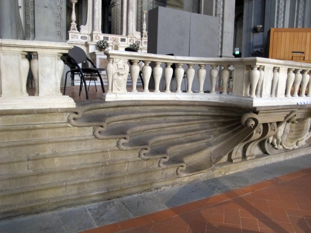 Steps to entrance of church near Ponte Vecchio, in Venice. (courtesy of Joel Pidel)