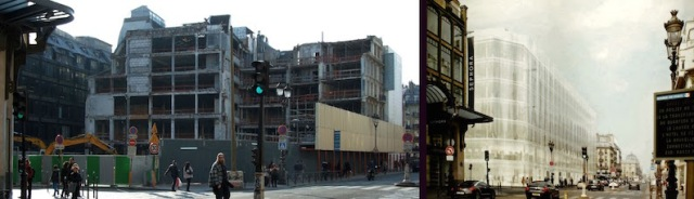 Segments of the Samaritaine have already been demolished - for what is at the right.
