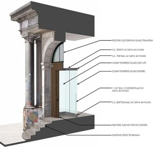 From the architect's plan to restore the facade.