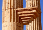 Bracket on a column of Palmyra's Grand Colonnade.