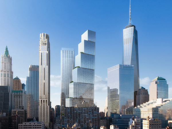 BIG's design for 2 World Trade Center. (wired.com)