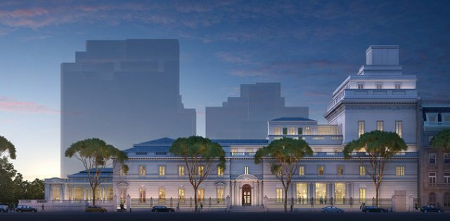 Cancelled plan for addition to Frick Museum. (Frick)