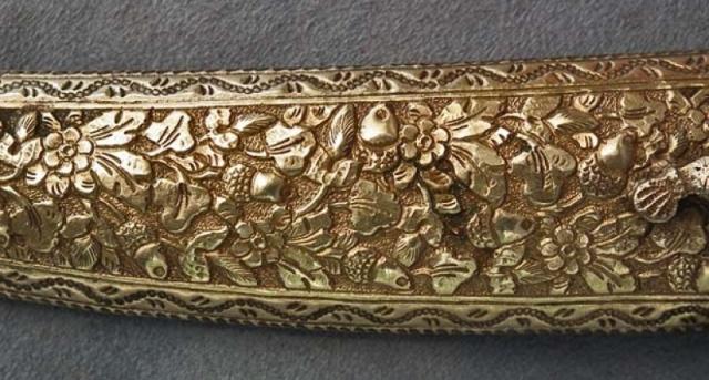 Antique Turkish Imperial Dagger sheath, circa 18th century. (101antiquesword.com)
