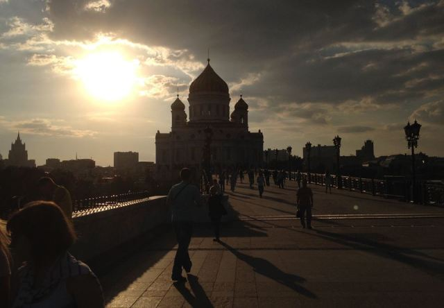 Michael Mehaffy's photo of the Cathedral of Christ the Savior, in Moscow.