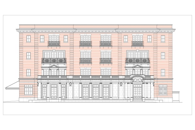 Apartment building proposed for New Orleans. (John C. Williams Architects)