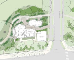 Site plan for welcome center. (gcpvd.org)
