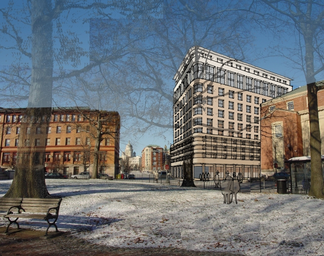 Rendering of design for Parcel 12 by Friedrich St. Florian. (St. Florian Architects)