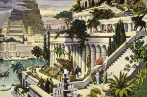 Hanging Gardens of Babylon. (Wikipedia)