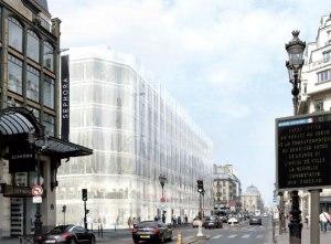 Design for La Samaritaine along rue de Rivoli. (SANAA)
