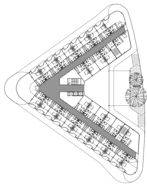 The site plan of the St. Florian design.