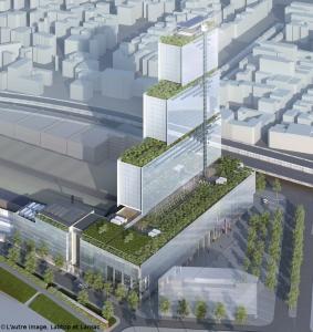 Proposed judicial tower for Paris. (Renzo Piano)