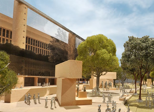 Detail of Frank Gehry's design for an Eisenhower memorial. (metropolis.com)