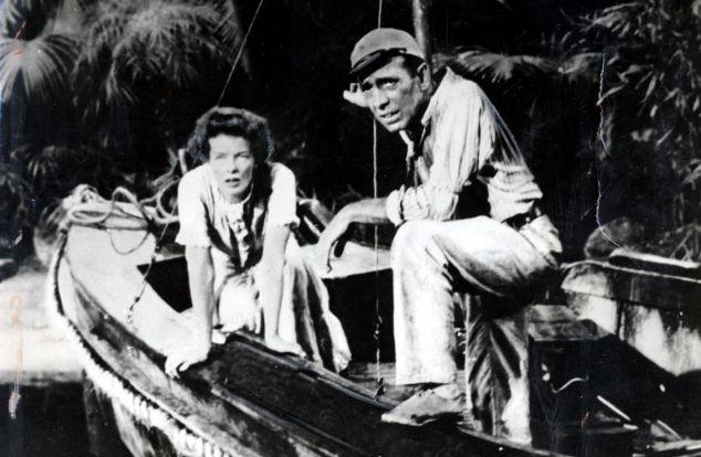 Katherine Hepburn and Humphrey Bogard in