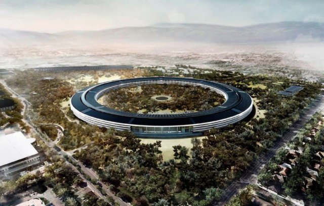 Rendering of new Apple headquarters in Cupertino, now under construction. (Wikipedia)