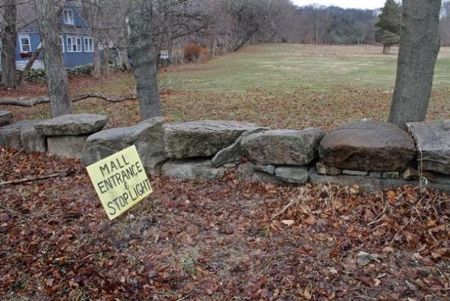 Recent view of propose entrance to site of project in Tiverton. (Journal photo by Kris Craig)