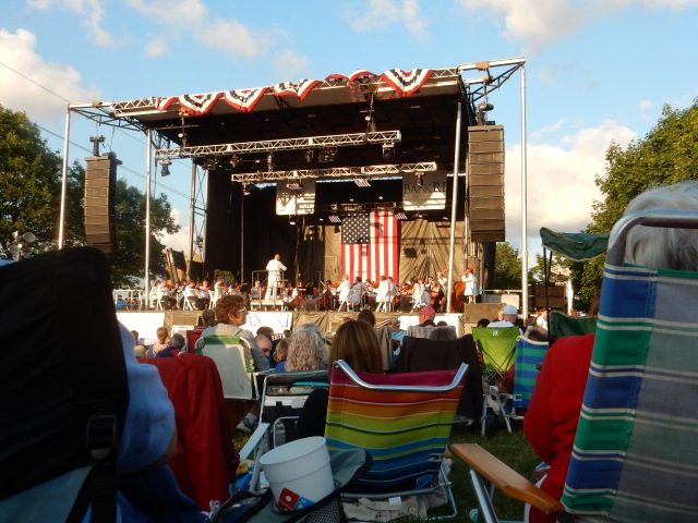 The Rhode Island Philharmonic near dusk at India Point Park last night.
