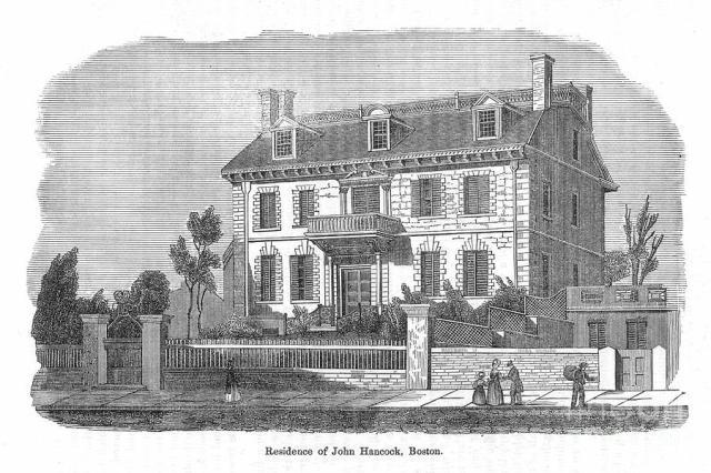 John Hancock's house. (freepages.history.rootsweb.ancestry.com)