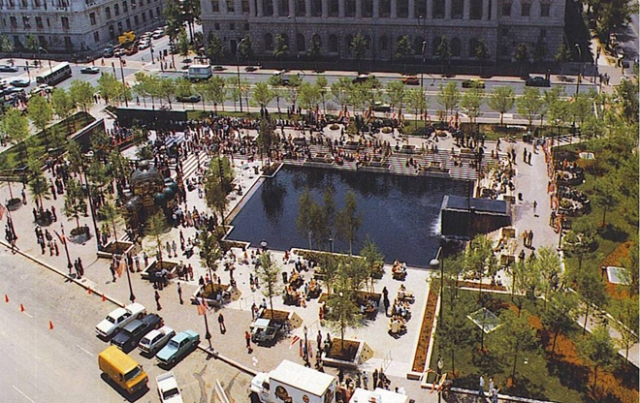 Pershing Square Park, near the White House. It will be renovated to include the new memorial. (asla.com)