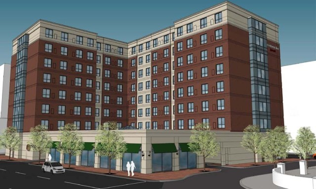 Latest design for hotel on Fountain Street downtown. (Procaccianti Group)