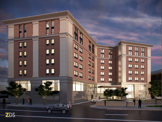 Recent design for proposed Parcel 12 hotel. (First Bristol)