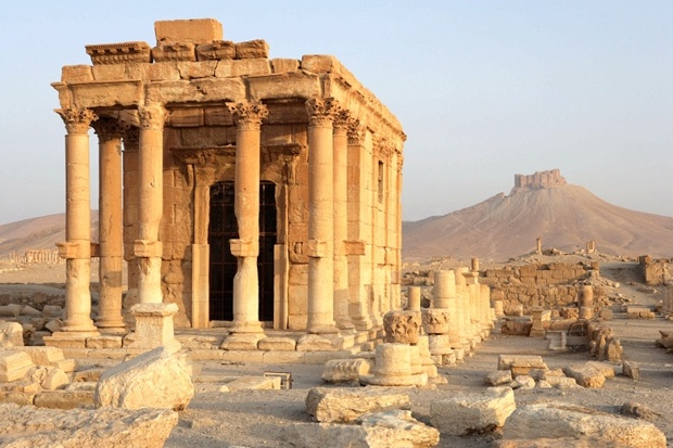 Baalshamin Temple, at Palmyra, just blown up by the Islamic State. (