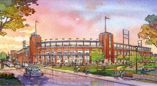 Rendering of proposed Providence stadium for PawSox. (Baseball Rhode Island)