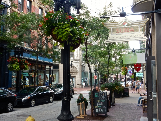 Westminster Street, in downtown Providence, looking east toward College Hill.
