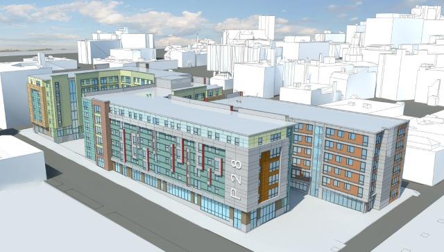 Two private dormators proposed for I-195 corridor. (gcpvd.org)