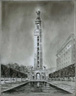 WWI memorial design by Richard Cameron and Michael Djordjevitch. (NR)