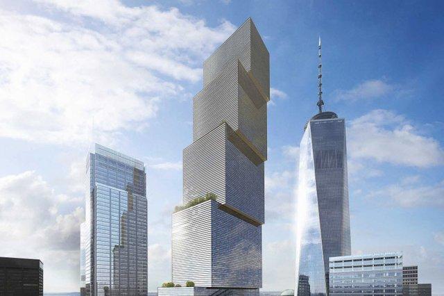Design for 2 World Trade Center, designed by Bjarke Ingels. (nypost.com)