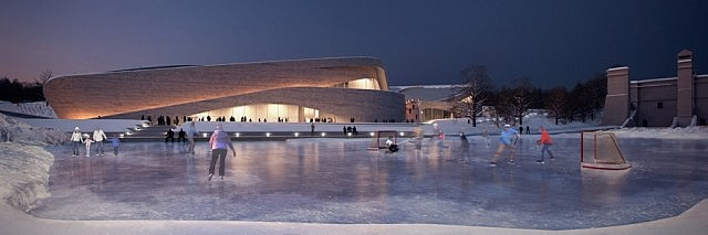 Bing Thom/Lett entry in competition for a new Canadian Canoe Museum. (CCM)