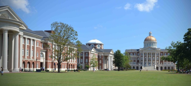Great Lawn of new main campus of Christopher Newport University, in Newport News, Va. (CNU)