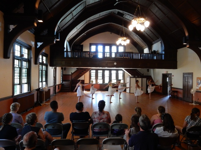 Metamorphosis danced in St. Paul's parish hall. (All photos and videos by David Brussat)