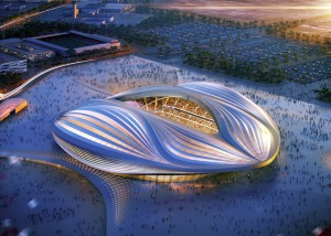 Proposed stadium in Qatar.