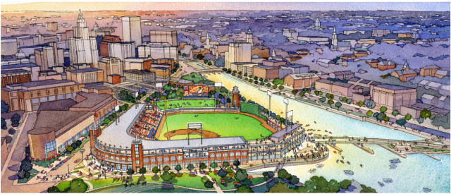 Proposed ballpark for PawSox in downtown Providence. (PawSox)
