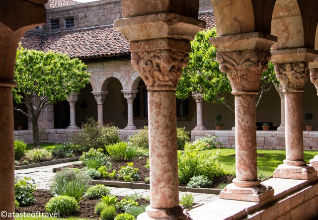 Courtyard at The Cloisters. (atasteoftravelblog.com)