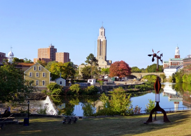 View of Slater Mill complex from other side of the river. (theoccasionalceo.blockspot.com)