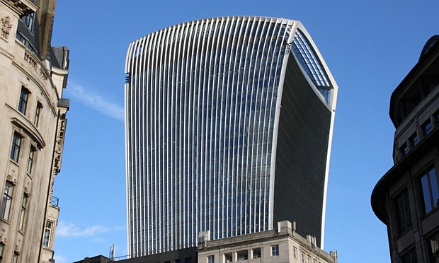The Walkie-Talkie building, by Rafael Vinoly. (Jacob Carter/Rex Shutterstock)
